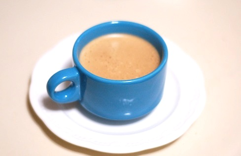 a hot butter coffee
