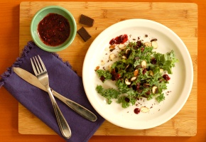 Appetizer stories and recipes from my unrefined life kale and chocolate with blackberry reduction and a food52 recipe contest forumfinder Choice Image